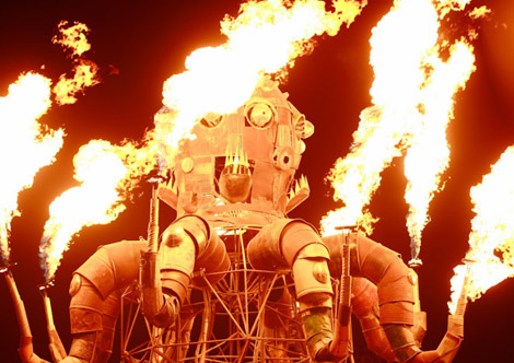 The Burning Man, Fallas en Nevada (EEUU).