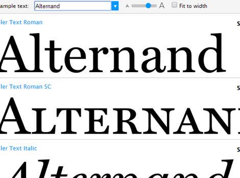 Miller, la tipografía que define la maqueta 'Monocle'.