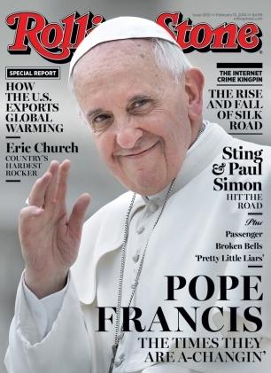 Francis, el primer papa portada de Rolling Stone.