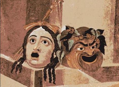 Máscaras griegas, base de la historia del teatro.
