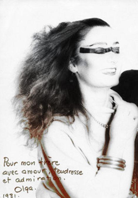Olga Poliakoff en 1981, adelantándose a una tendencia de maquillaje que en 2015 todavía no baja de las pasarelas.